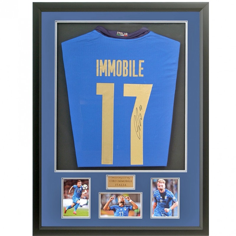 Ciro Immobile Hand Signed Italian Football Shirt