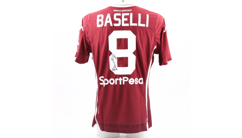 Baselli's Worn and Signed Shirt, Spal-Torino 2019