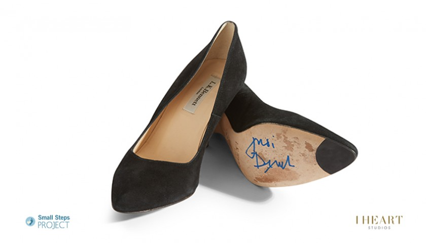 Dame Judi Dench Signed Shoes