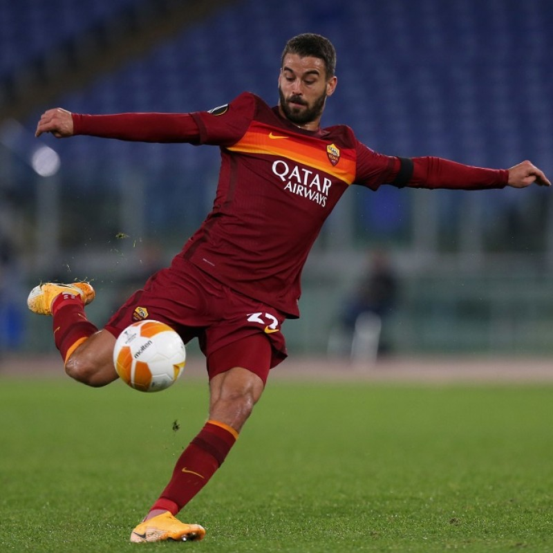 Spinazzola's Roma Match-Issued Signed Shirt, EL 2020/21