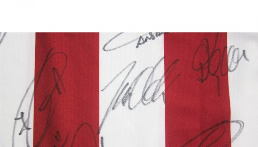 Mandzukic Atletico Madrid shirt, signed by the team