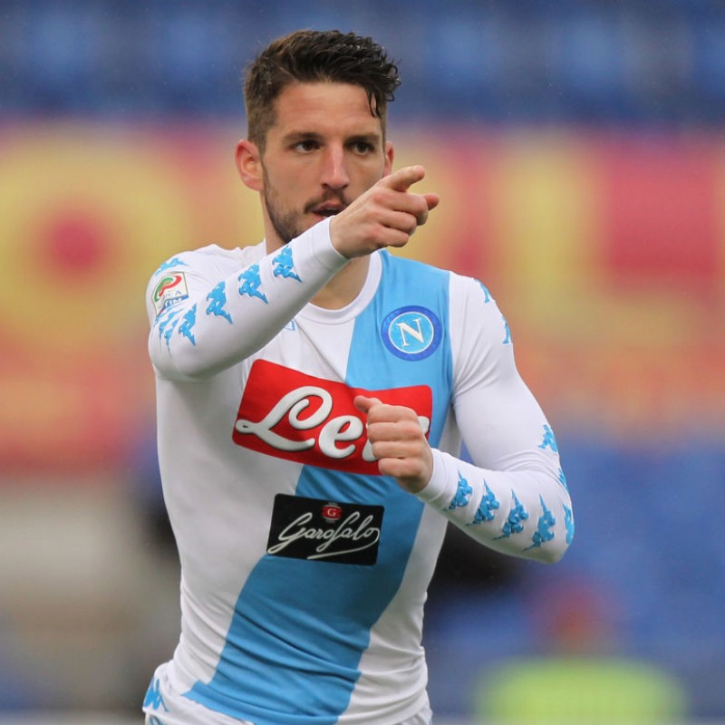 Official 2016/17 Mertens Napoli Shirt, Signed by the Team