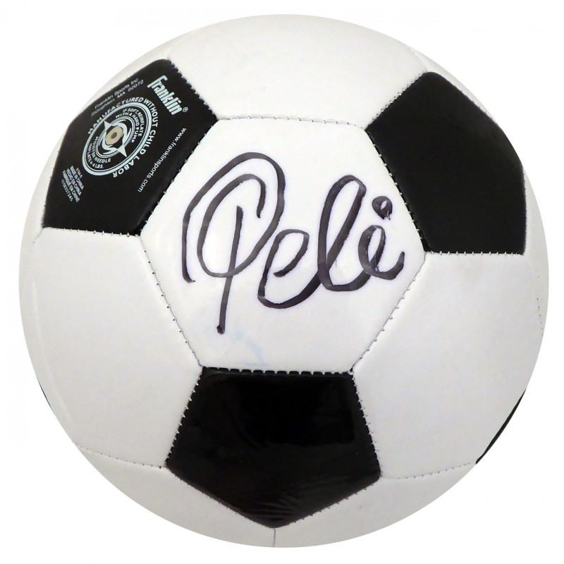 Pelé Hand Signed Soccer Ball
