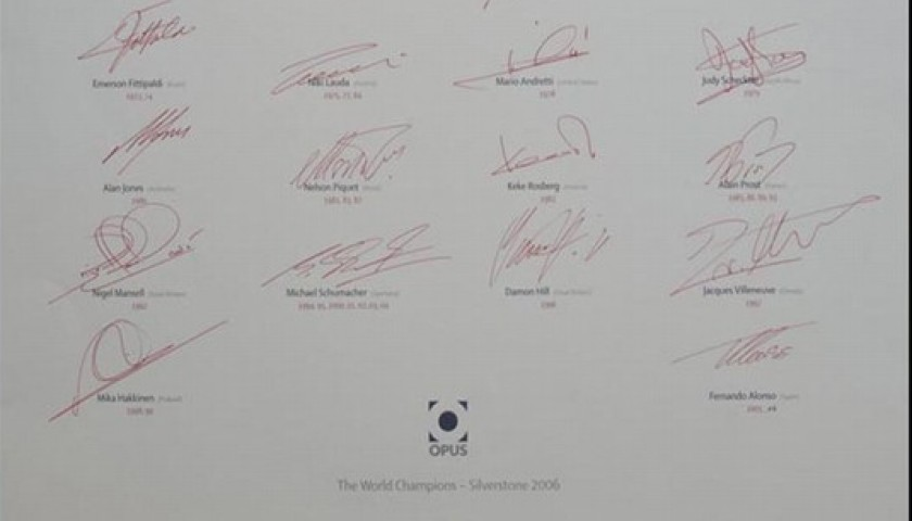 Official F1 Opus Champions Edition Signed by 23 World Champions