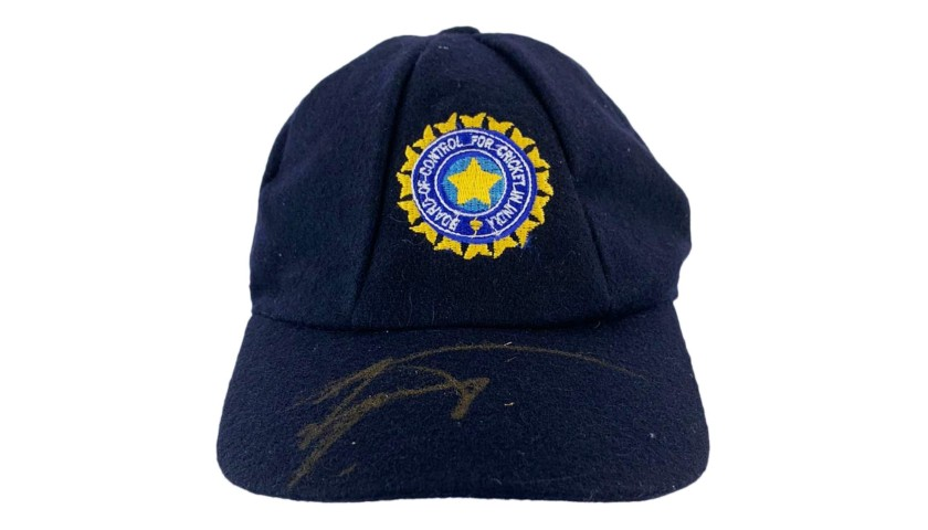 India Test Cap Signed by Murali Vijay