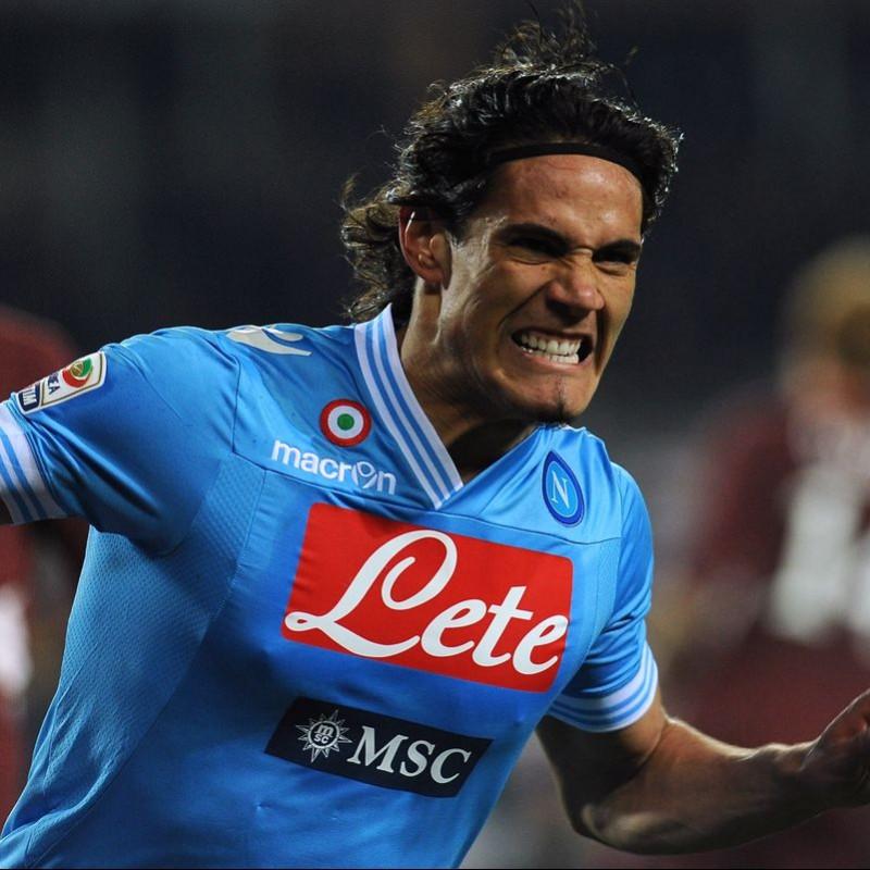 Cavani's Match-Issued/Worn Napoli Shirt, Serie A 2012/13