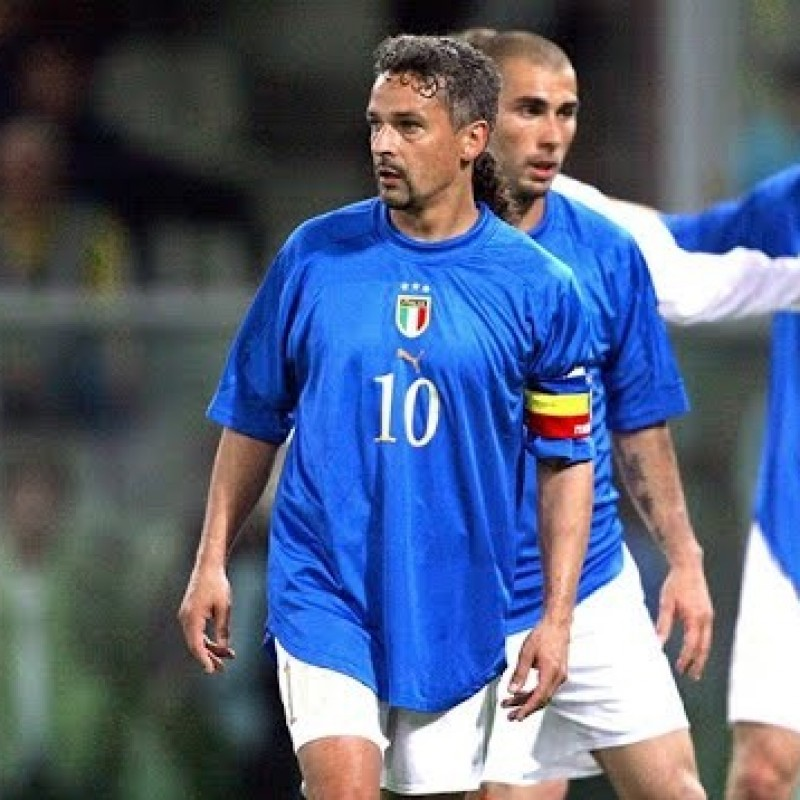 Baggio's Official Italy Signed Shirt, 2004