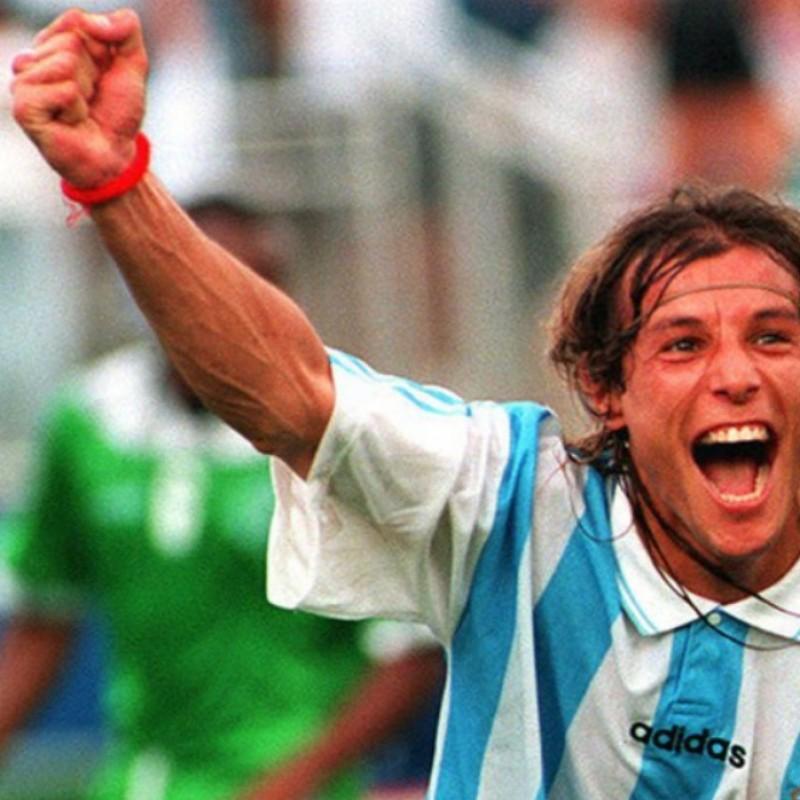 Match worn Caniggia Argentina shirt, 1994 friendly match