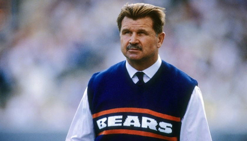 Iron Mike Ditka Hand Signed NFL #1 Fan Photo