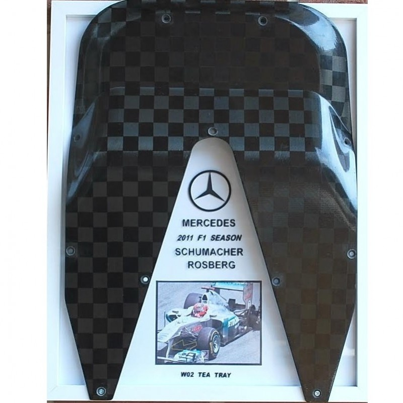 Mercedes W02 Carbon Tea Tray, Used 2011 Formula One