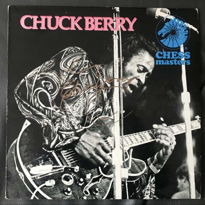 Chuck Berry Signed Chess Masters Vinyl LP