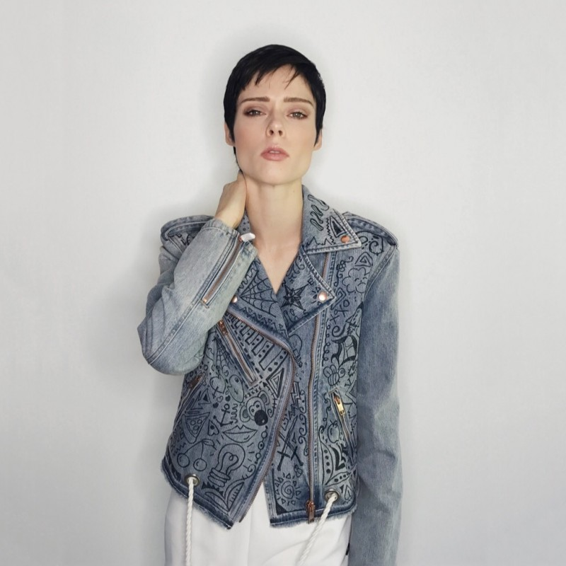 Coco Rocha's Customized Diesel Jacket