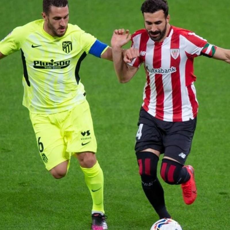 Koke's Match Shirt, Athletic Bilbao- Atletico Madrid 2021