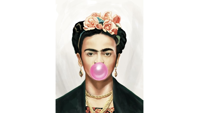 """Frida Kahlo Bubble Gum"" by Thomas Hussung"