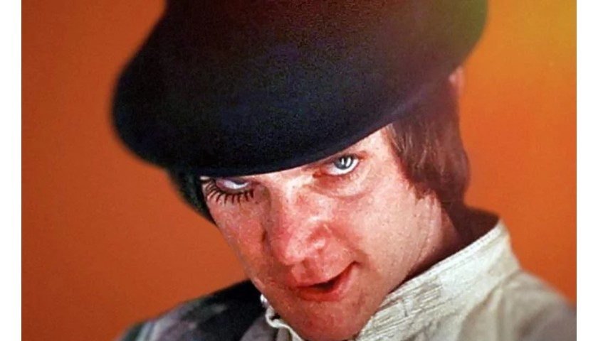 A Clockwork Orange Poster Hand Signed by Malcolm McDowell