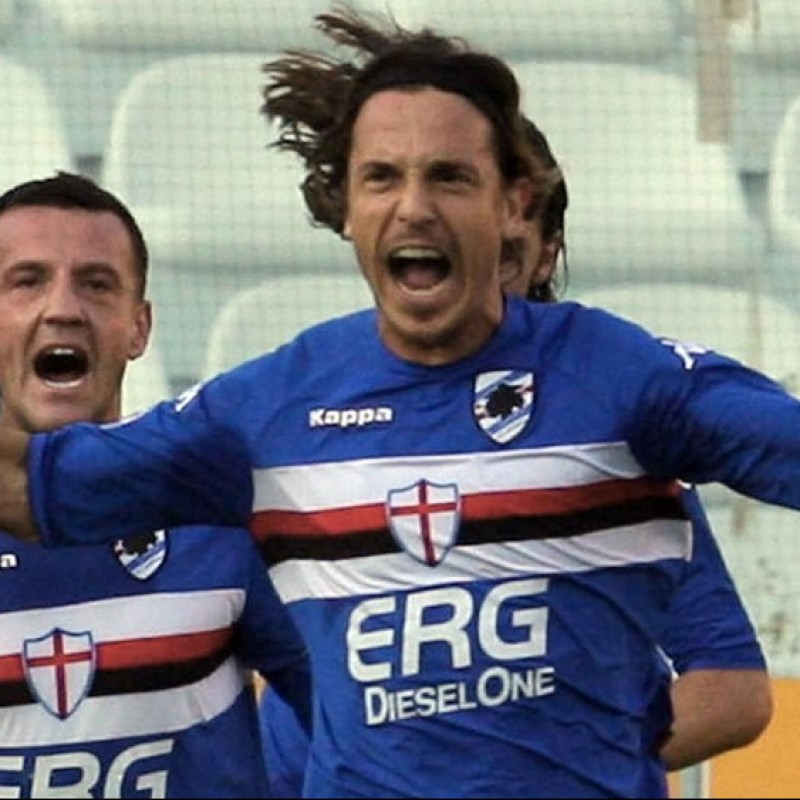 Franceschini's Sampdoria Worn Shirt, 2005/06