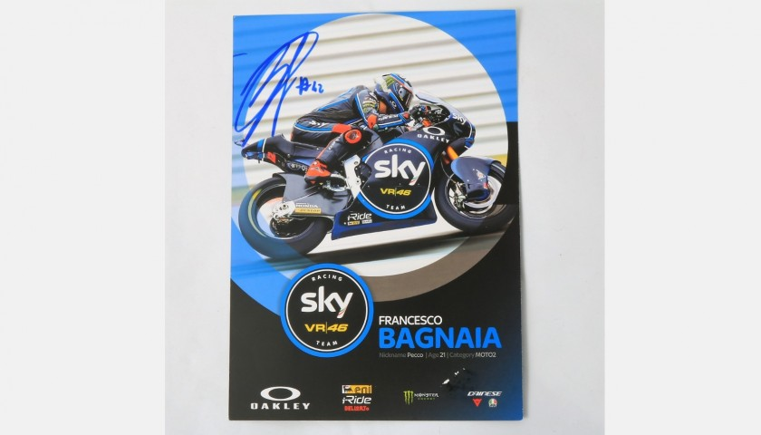 Bagnaia Signed Photograph, Moto2
