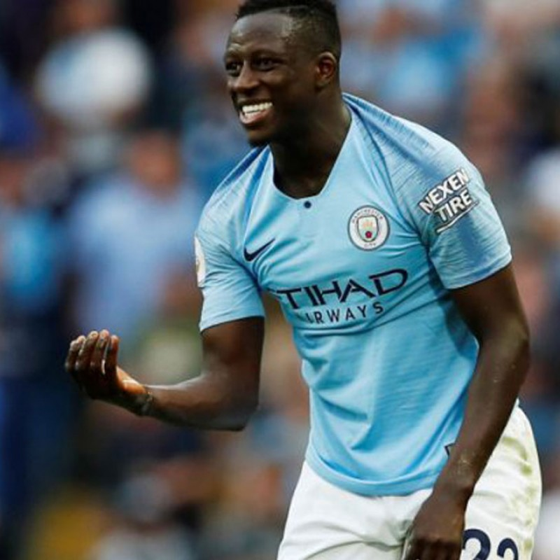 Mendy's Manchester City Match White Shorts 2018/19