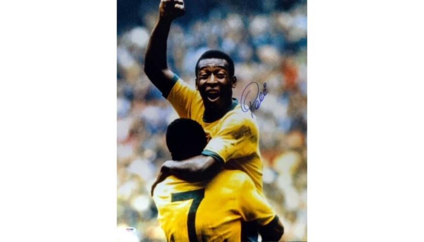 """Pelé Signed """"Celebration"""" CBD Brazil Photograph"""