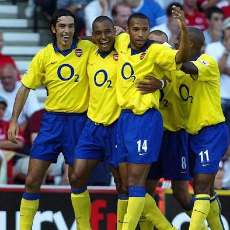 Official Arsenal Invincibles Season Shirt Signed by Gilberto Silva