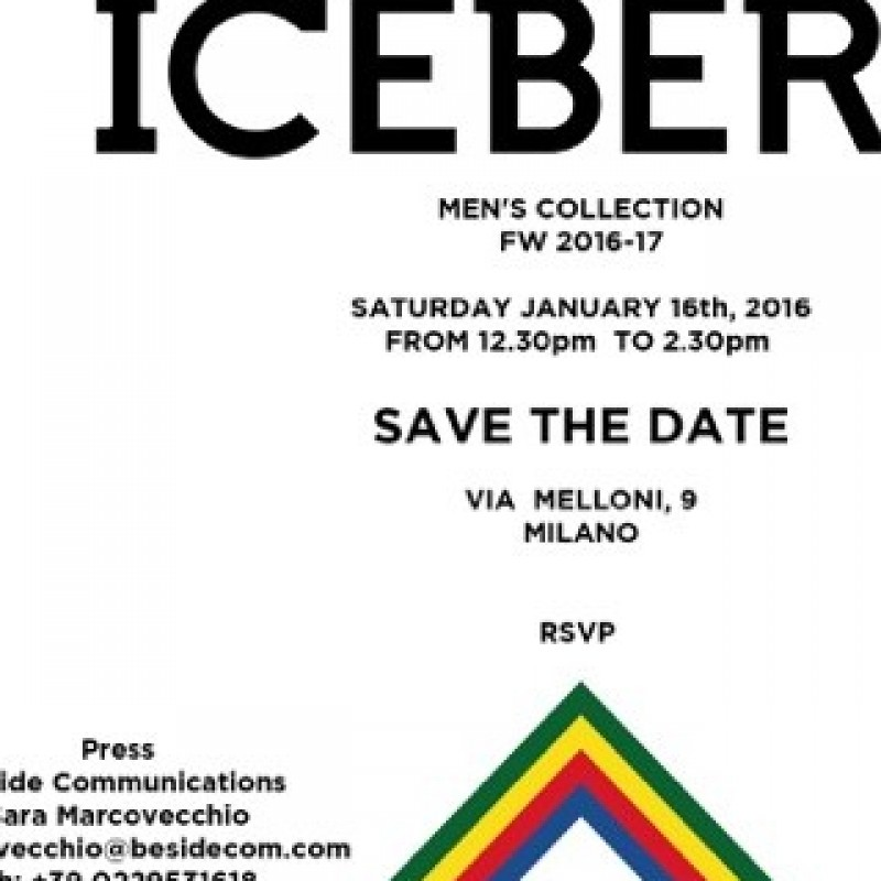 2 tickets Icerberg Man collection presentation - 16 January - Milan