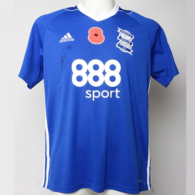 Poppy Shirt Signed by Birmingham City FC's Jeremie Boga