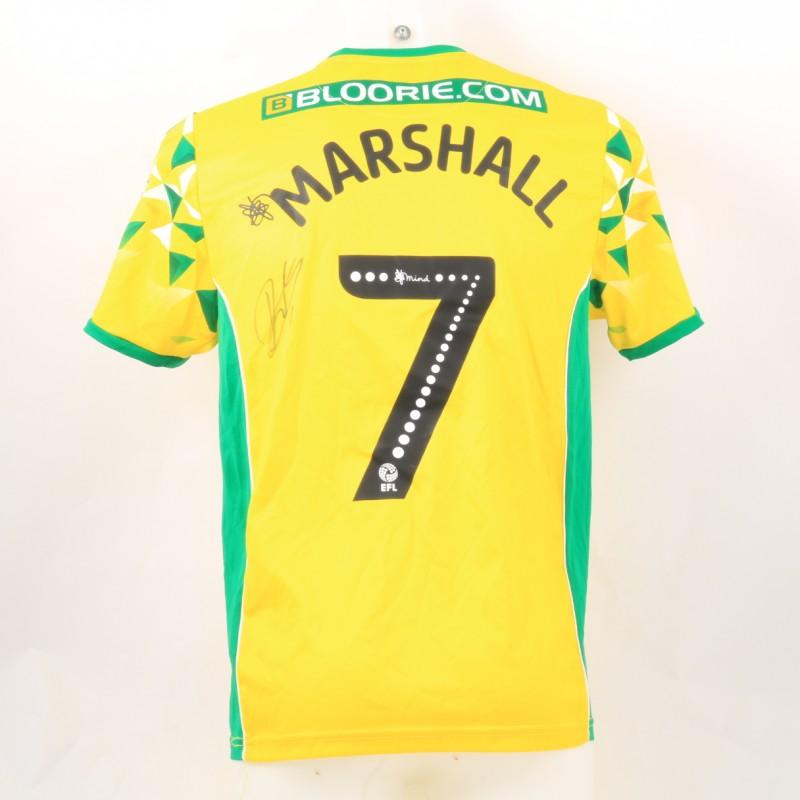 Marshall's Norwich Poppy Match Shirt - Signed