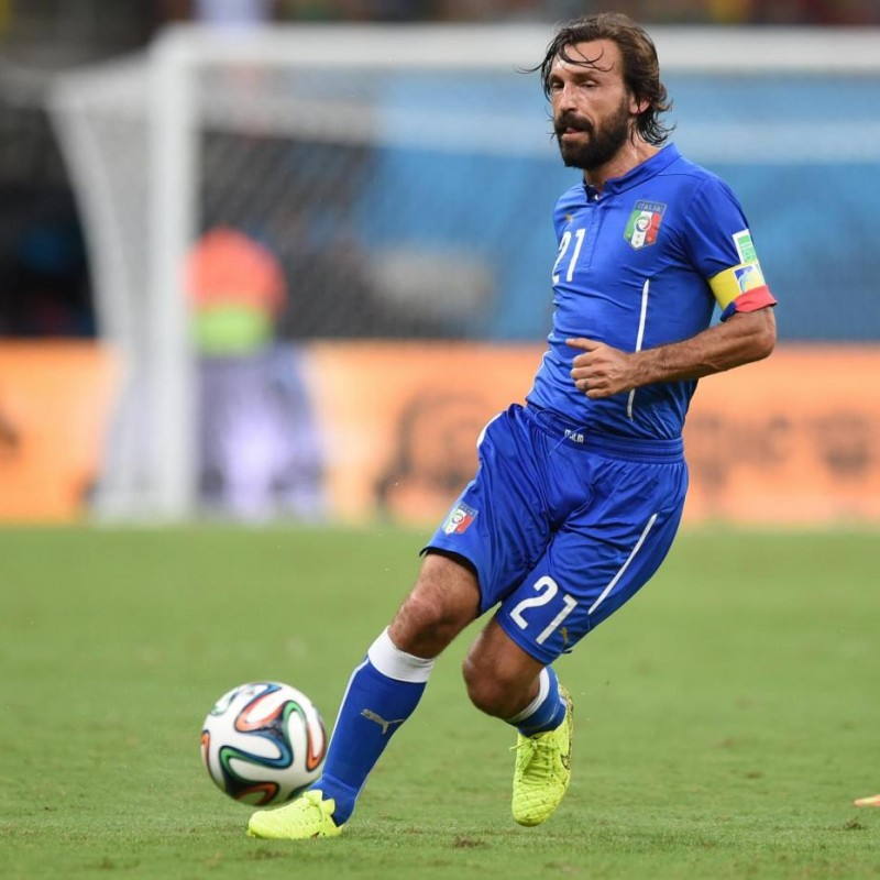 Pirlo's Italy Issued Shirt, 2014 World Cup