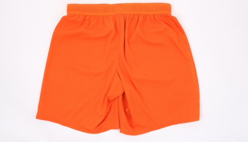 Fernandinho's Manchester City Match Shorts Orange, Premier League 2018/19