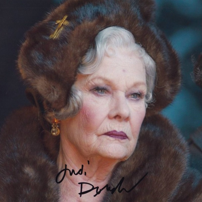 """""""Murder on the Orient Express"""" - Photograph Signed by Judi Dench"""