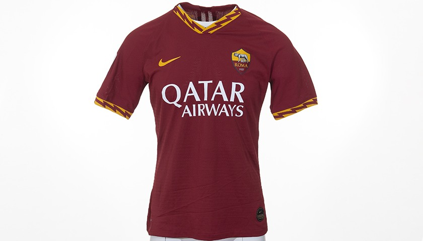 Kluivert's Worn Shirt, Lazio-Roma 19/20