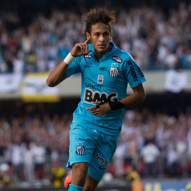 Neymar's Santos Signed Match Shirt, Paulista 2012