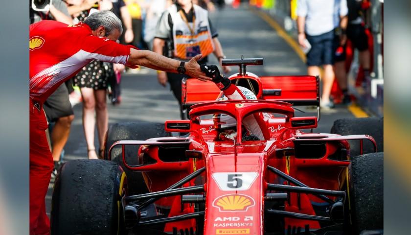 Vettel's Signed Racing Gloves, 2018 Season