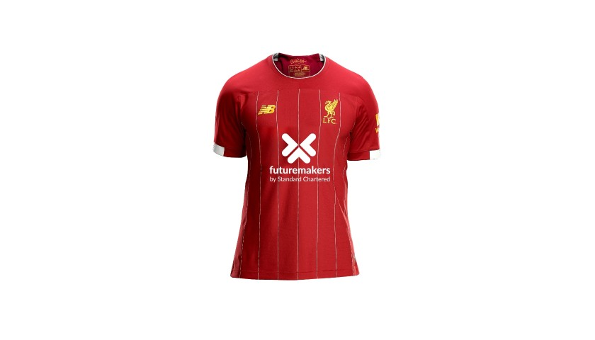 Van Dijk's Worn and Signed Limited Edition 19/20 Liverpool FC Shirt