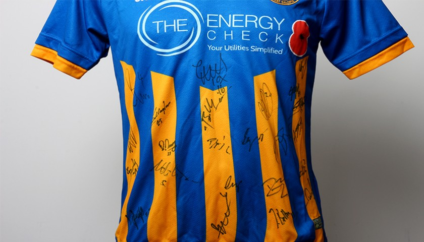 bac202c10 Poppy Shirt Signed by Shrewsbury Town F.C. - CharityStars