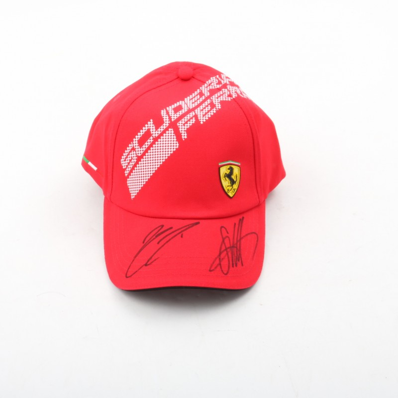 Ferrari Cap Signed by Vettel and Raikkonen