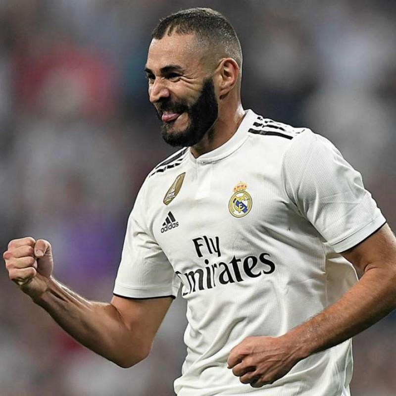 Benzema's Real Madrid Match Shirt, UCL 2018/19