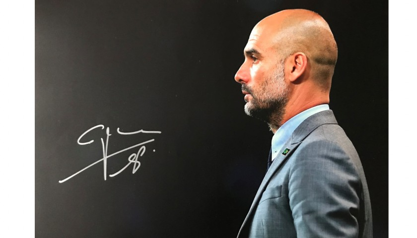 Pep Guardiola Signed and Framed Photo