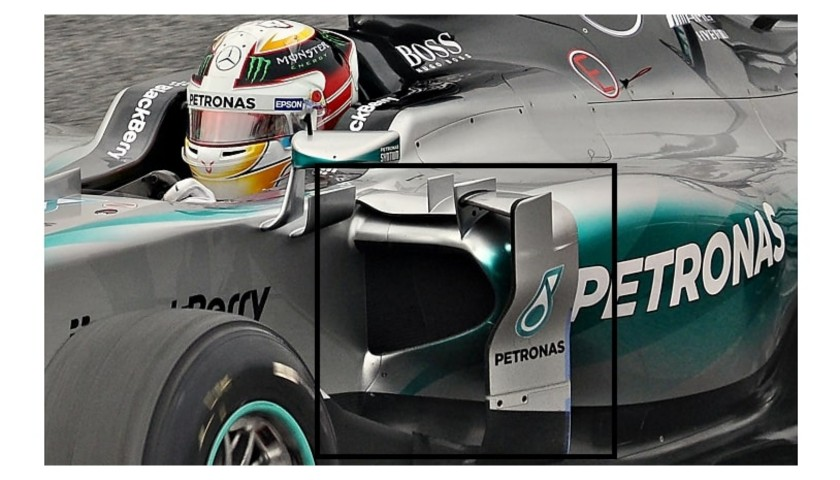Lewis Hamilton Mercedes W06 Side Pod Piece