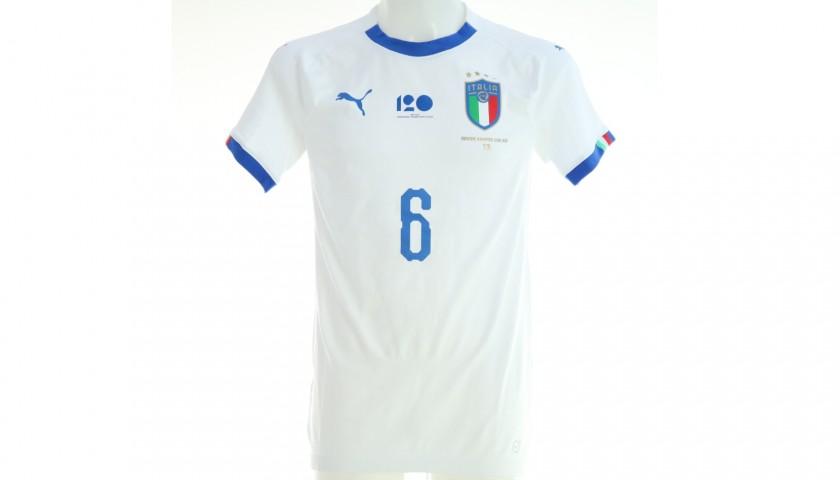 Maglia gara Candreva, Argentina-Italia 2018 + Pallone