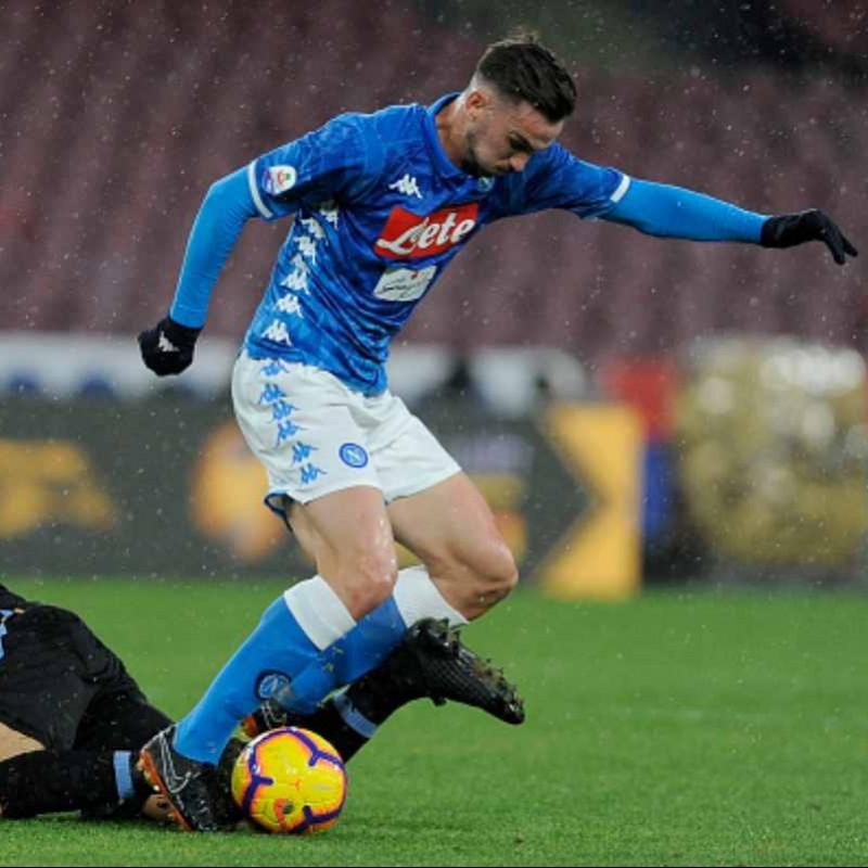 Fabian Ruiz's Worn Shirt, Napoli-Lazio 2019