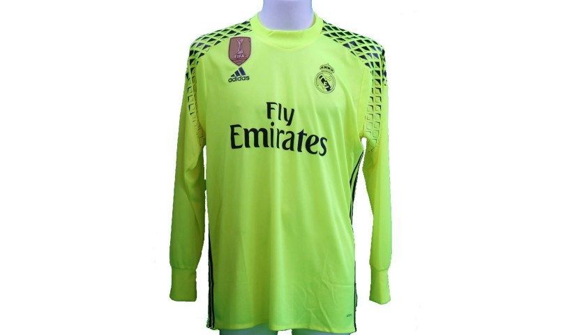 buy popular 1a605 4e775 Keylor Navas' Real Madrid Match-Issue Shirt, Liga 2016/17 - CharityStars