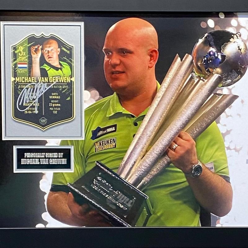 Michael Van Gerwen Signed and Framed Darts Montage