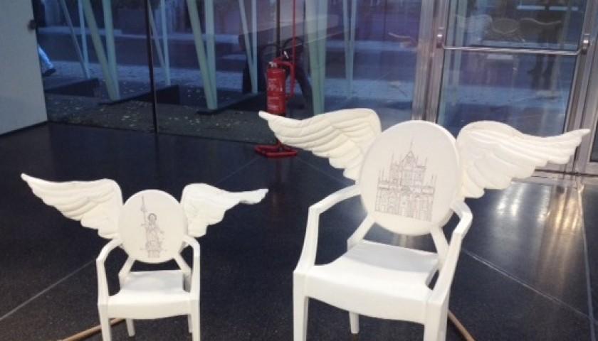 Coppia di sedie Louis Ghost e Lou Lou Ghost by Antonio Marras - Unique piece
