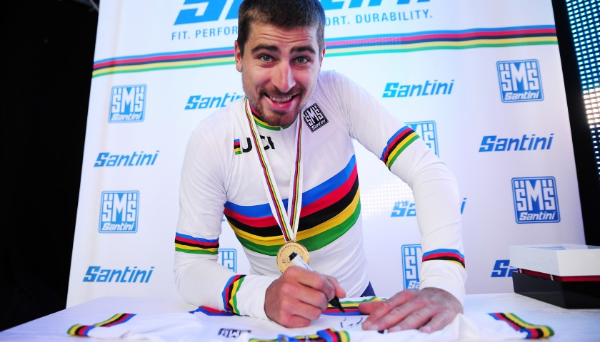 Peter Sagan's UCI World Champion Signed Cycling Shirt