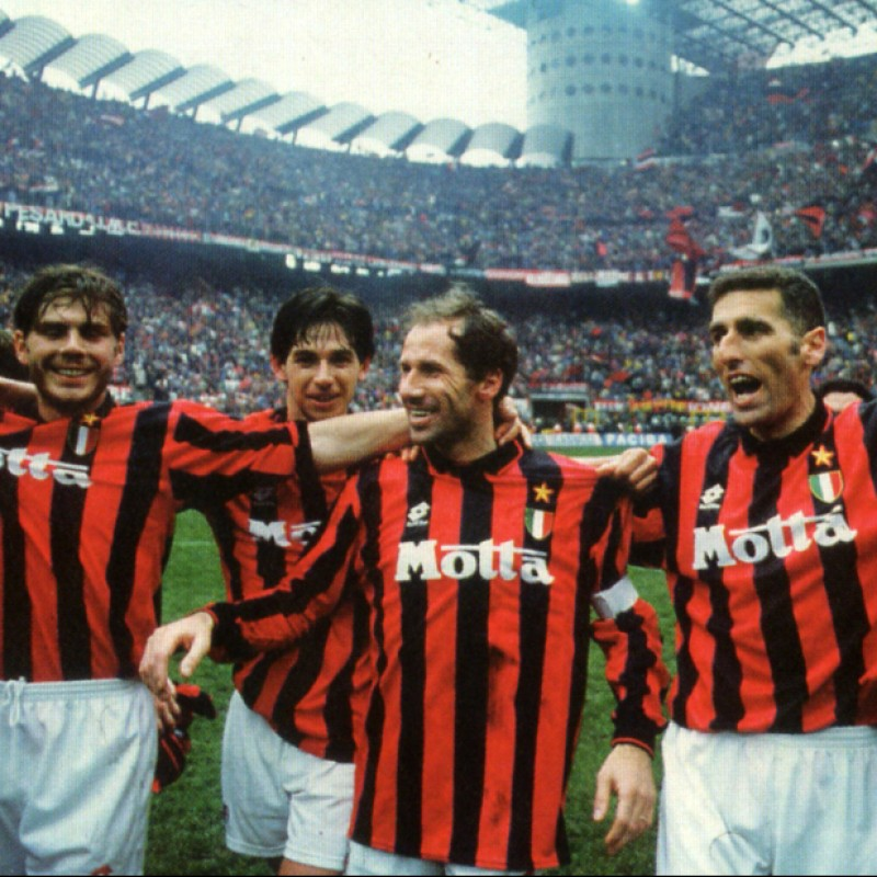 Milan's 13th Scudetto Shirt, Signed by Baresi and Maldini