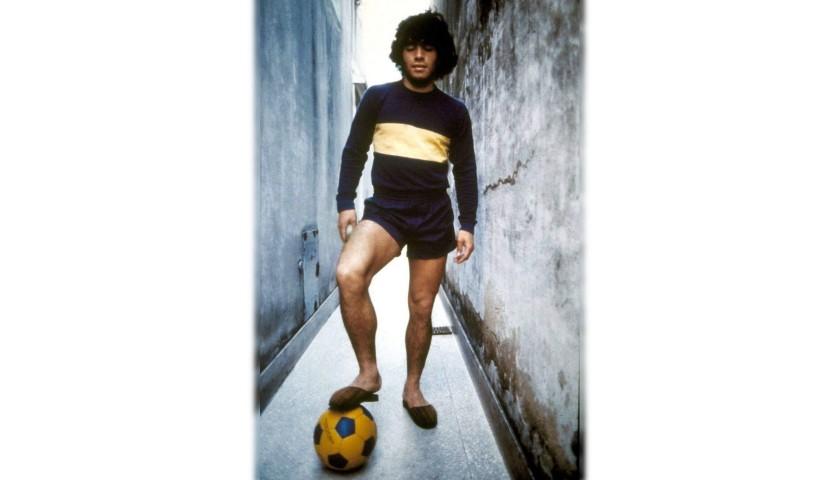 Boca Juniors Shirt, 1970s - Signed by Diego Maradona