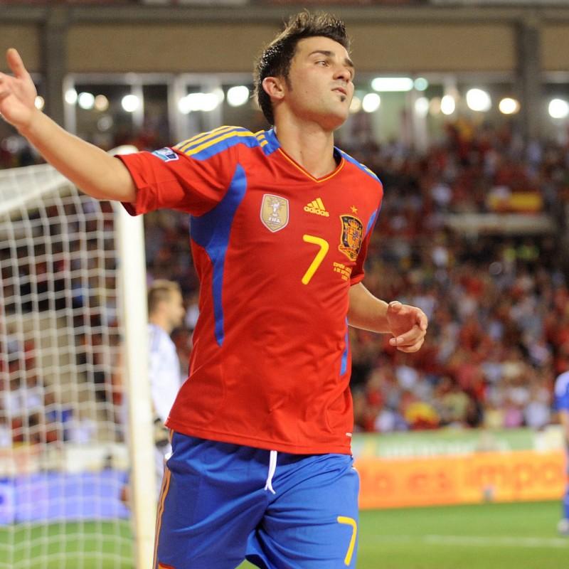 David Villa's Official Spain Signed Shirt, 2010
