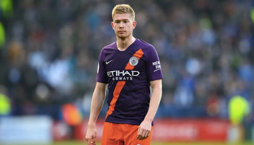 De Bruyne's Manchester City Match Shorts Orange, Premier League 2018/19