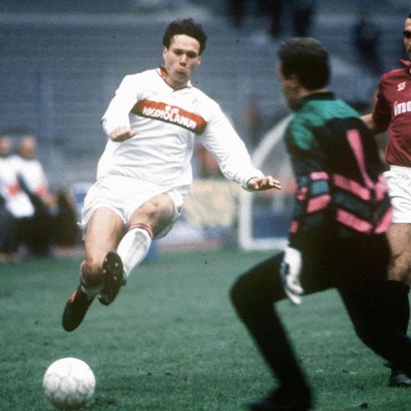 Van Basten's Milan Worn Shirt, 1990/91